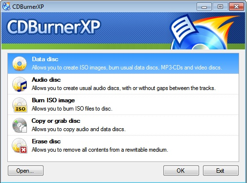 CDBurnerXP - The Best Free CdDvd Burner
