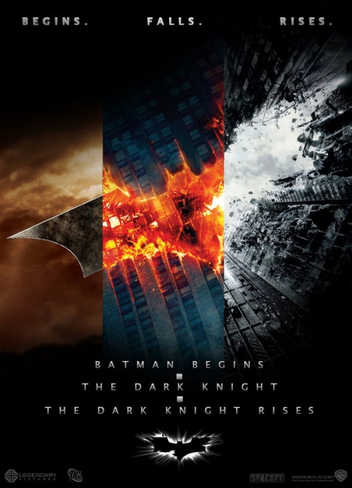 batman trilogy poster