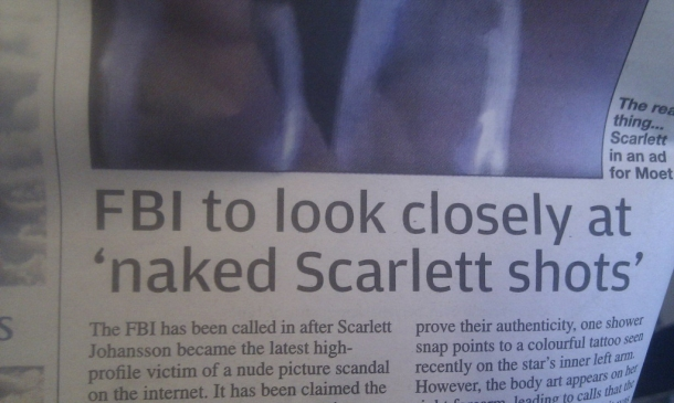 nude pics of Scarlett Johansson