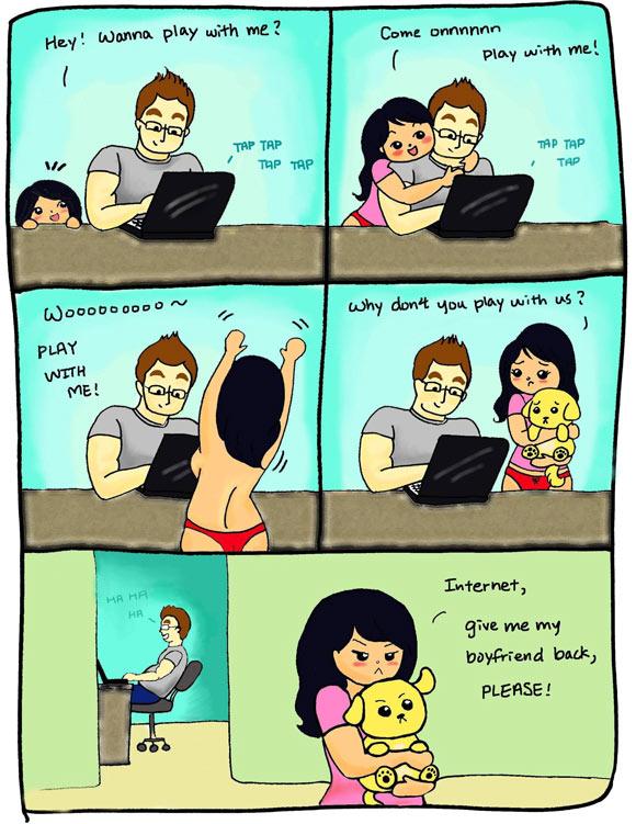 Internetboyfriend internet stole my boyfriend meme of the day!