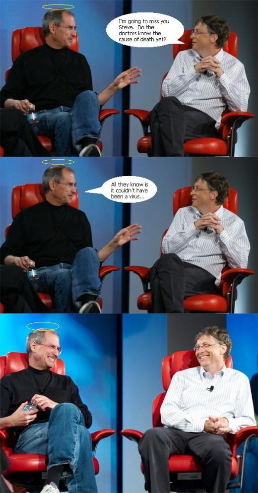 The Steve Jobs-Bill Gates meme