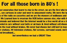 Born in the 80's
