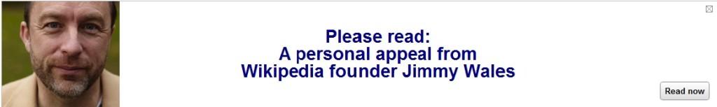 Wikipedia, Jimmy Wales Appeal Donate to Wikipedia