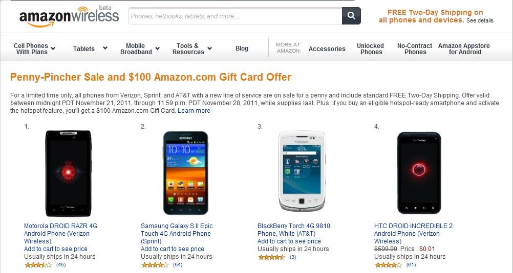 amazon wireless penny pincher sale