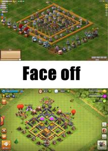 (Top) Backyard Monsters (Below) Clash of Clans