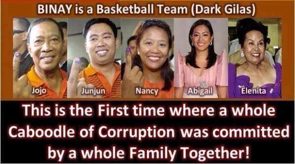 cover the binay family a filipino meme