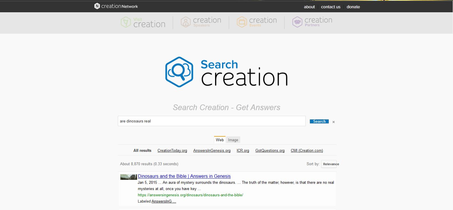 SearchCreation: The Christian Biblical Web Browser