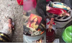 Video of Destroying Christian Images Uploaded Online
