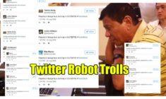 Evidence that Anti-Duterte Groups Use Twitter Robot Trolls