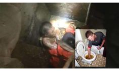 Man Trapped inside Septic Tank to get Dropped Smartphone