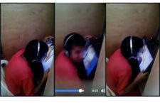 Dude French Kissing an Internet Cafe Monitor Caught on Cam