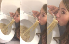 Twitter Girl Eats Ramen on a Toilet Bowl gets Viral