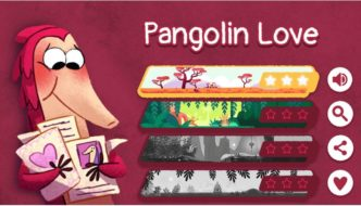 """Google Features """"Pangolin Love"""" Doodle Game on Valentines Day"""