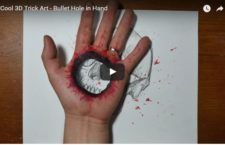 Cool Video of the Day: Bullet Hole 3D Art