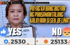 DZRH News opens Online Poll for de Lima's Temporary Freedom